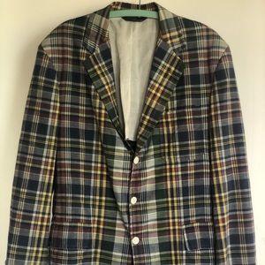 Vintage Polo Ralph Lauren Plaid Cotton Blazer